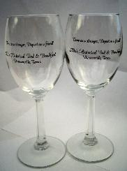 Souvenir Glasses to Keep Take Alla's Historical B&B glass with you! Priced at $8.50 each.